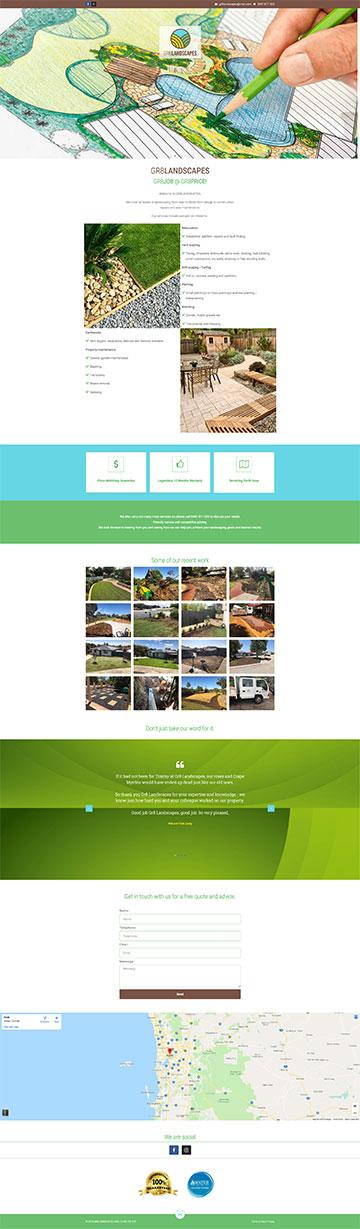 GR8LANDSCAPES Home Page Snapshot