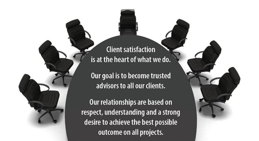 Client satisfaction is at the heart of what we do.